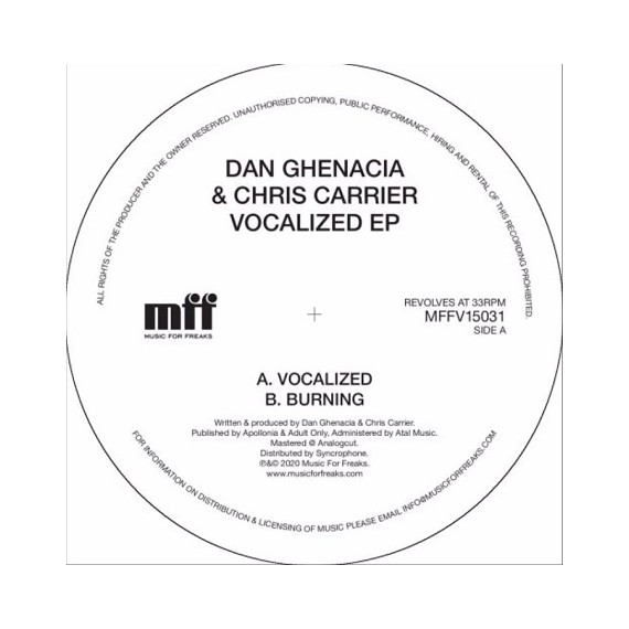DAN GHENACIA & CHRIS CARRIER***VOCALIZED EP